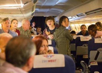 Michelle Ang as Alex and Brendan Meyer as Jake - Fear the Walking Dead: Flight 462 _ Webisode - Photo Credit: Justina Mintz/AMC