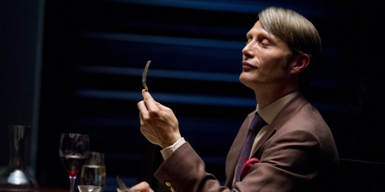 """This publicity image released by NBC shows Danish actor Mads Mikkelson as Dr. Hannial Lecter in a scene from the upcoming TV series, """"Hannibal.""""  The series, based on the Thomas Harris novels and starring Mikkelson, Hugh Dancy, and Laurence Fishburne, will premiere on April 4, 2013 on NBC.  (AP Photo/NBC, Brooke Palmer)"""