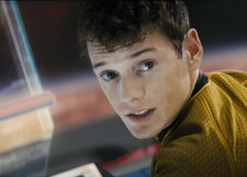"""Anton Yelchin stars as the 17-year-old Chekov in a scene from the 2009 motion picture""""Star Trek."""" Photo by Industrial Light & Magic, Paramount Pictures (Via MerlinFTP Drop)"""
