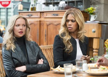DOUBT stars Katherine Heigl (left) as Sadie Ellis, a brilliant attorney at a boutique firm who starts to fall for her charismatic client, an altruistic pediatric surgeon recently accused of murdering his girlfriend 24 years ago. Working on other cases at the practice is Cameron Wirth (Laverne Cox), a transgender Ivy League graduate who fights passionately for her clients since sheÕs experienced injustice first hand. Photo: JoJo Whilden/CBS © 2016 CBS Broadcasting Inc. ALL RIGHTS RESERVED.