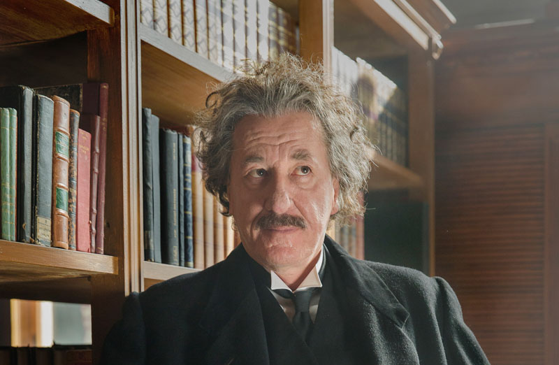 Geoffrey Rush as Albert Einstein in National Geographic's 'Genius'.