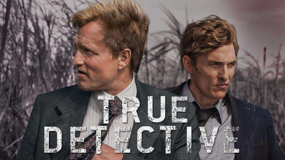 "COPYRIGHT LINE REQUIRED: True Detective SM, under license from Home Box Office, Inc. LOGO REQUIRED: Please use Sky Atlantic ""on dark""unless logo is positioned on the far right hand side in which case please use Sky Atlantic ""on light""."
