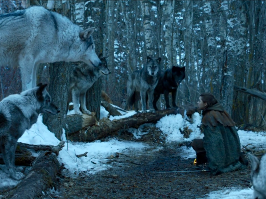 nymeria and arya stark game of thrones season seven