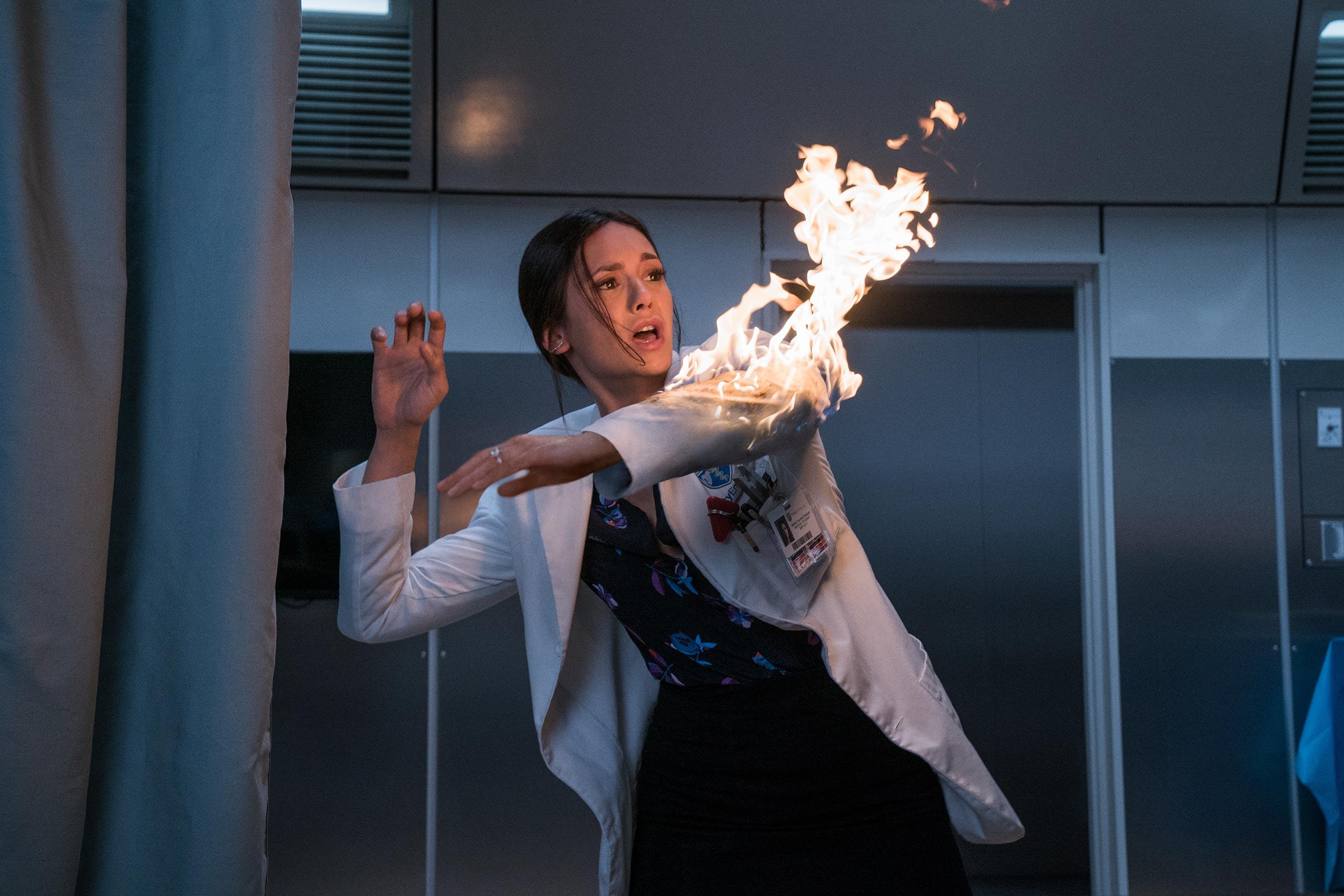 Marlo (Nina Dobrev) in Columbia Pictures' FLATLINERS.