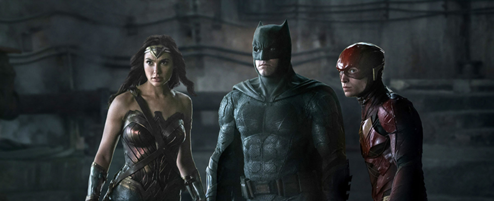 for use in 9.11 movie preview first (L-R)† GAL GADOT as Wonder Woman, BEN AFFLECK as Batman and EZRA MILLER as The Flash in Warner Bros. Picturesø action adventure øJUSTICE LEAGUE,ø a Warner Bros. Pictures release. Photo by Clay Enos / TM & (c) DC Comics© 2016 Warner Bros. Entertainment Inc., Ratpac-Dune Entertainment LLC and Ratpac Entertainment, LLC     HARWOOD  Photographer