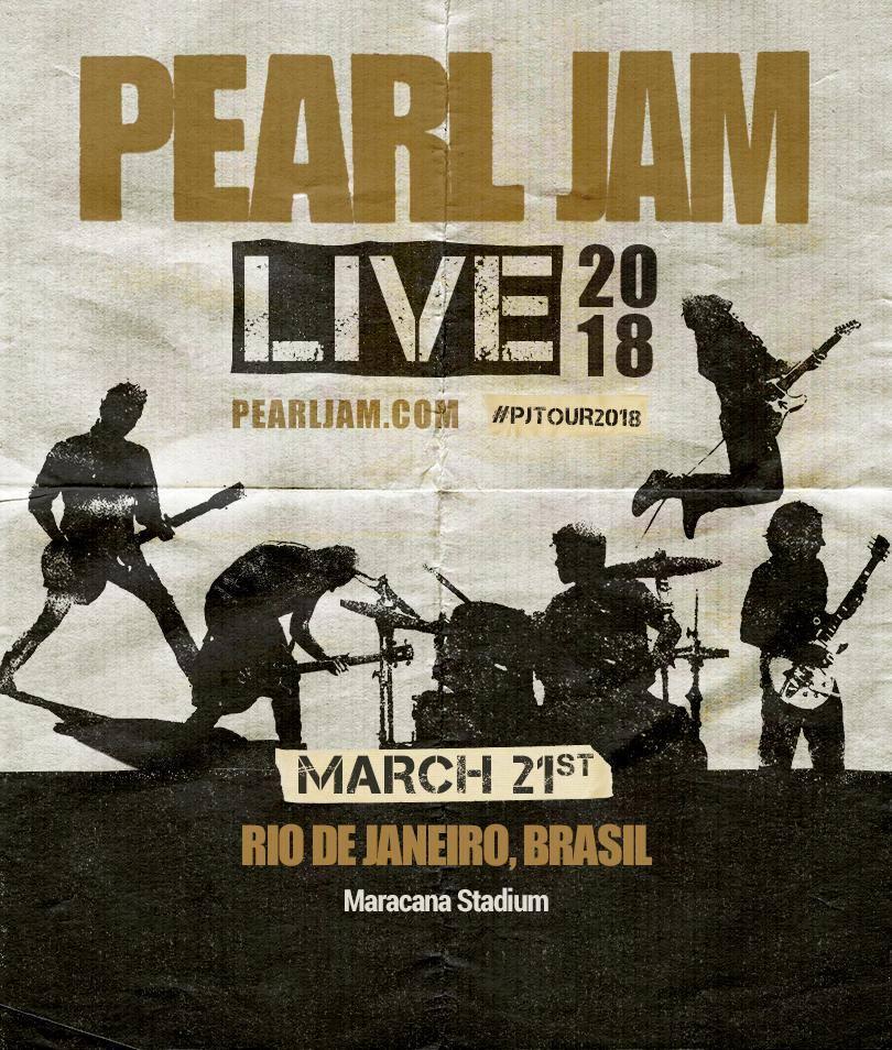 Pearl Jam confirma show no Rio de Janeiro em 2018