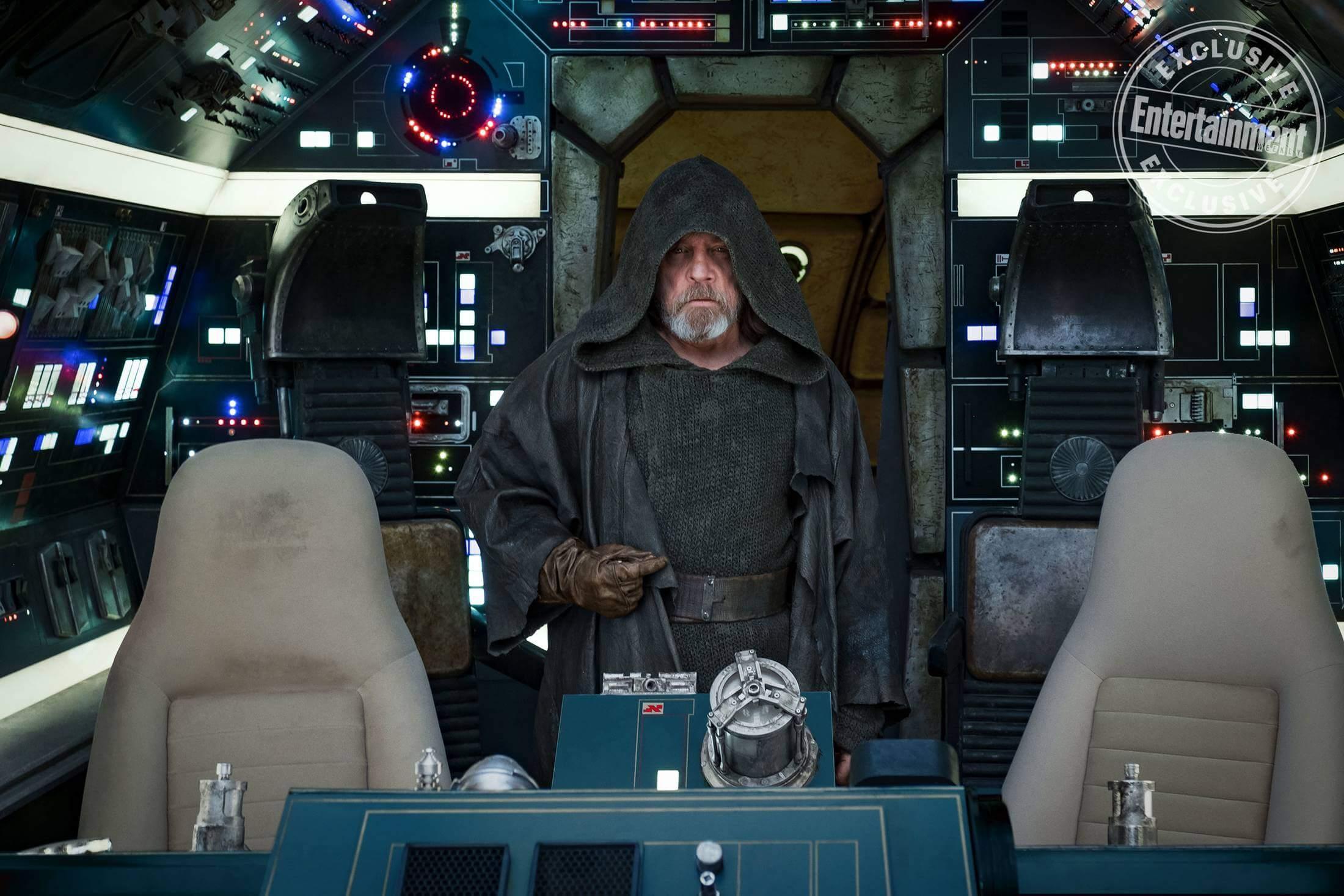 STAR WARS: THE LAST JEDI Mark Hamill is Luke Skywalker   Credit: David James/© 2017 Lucasfilm Ltd.