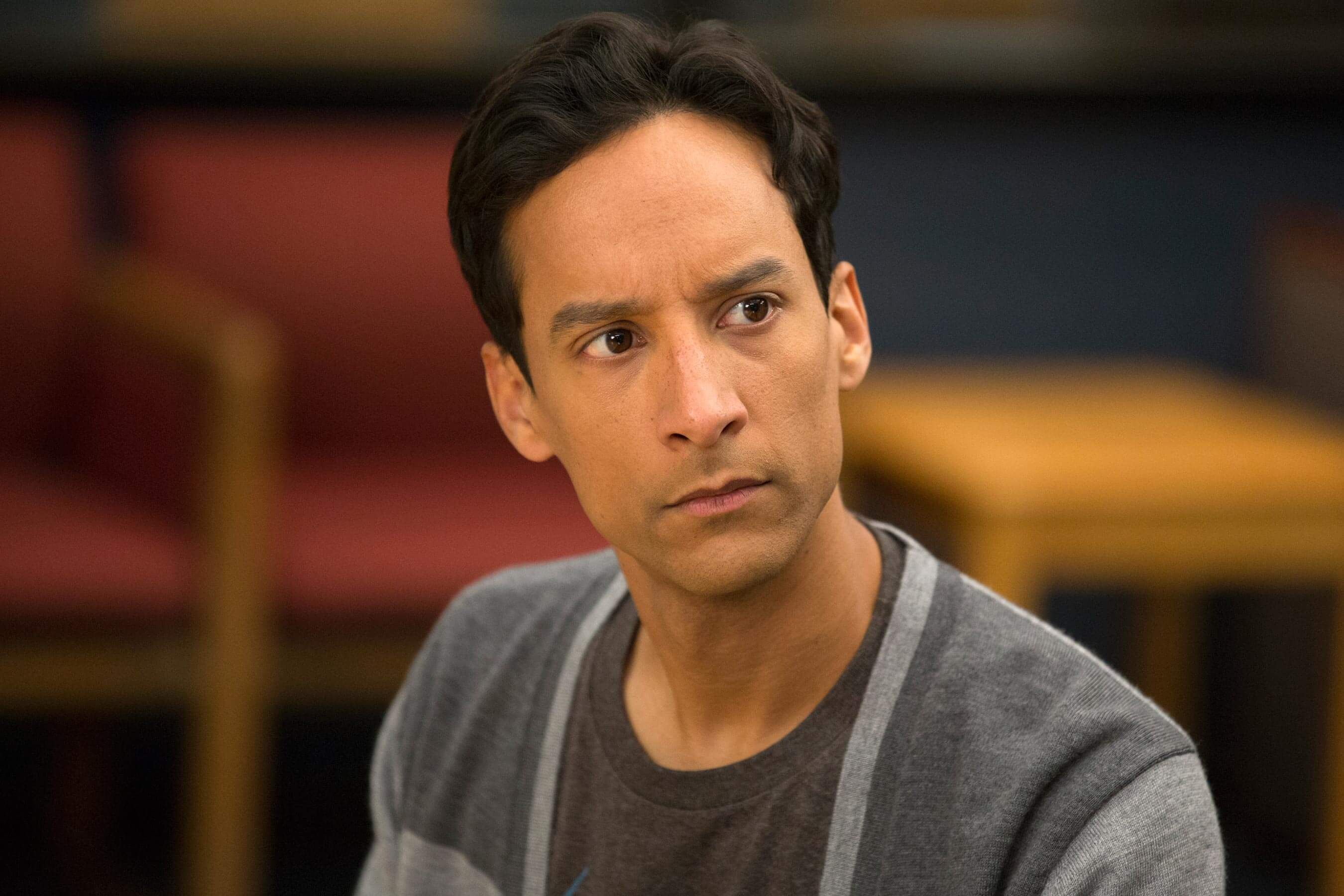 "COMMUNITY -- ""Cooperative Polygraphy"" Episode 503 -- Pictured: Danny Pudi as Abed -- (Photo by: Justin Lubin/NBC/NBCU Photo Bank via Getty Images)"