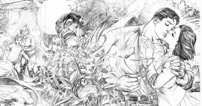 Capas de Man of Steel, desenhadas por Ivan Reis