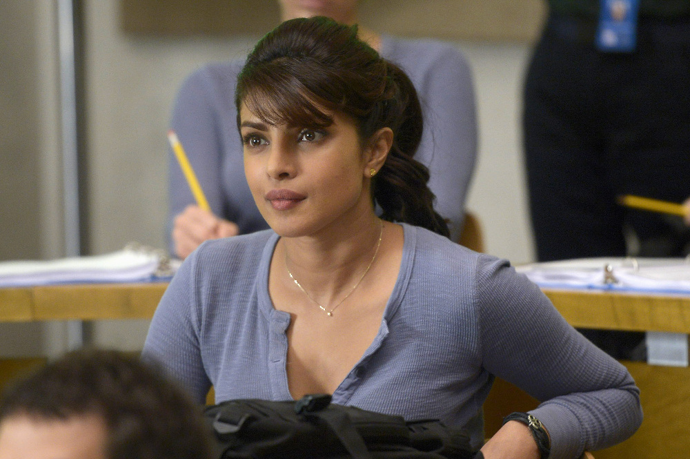 "QUANTICO - ""America"" -- Alex is on the run and must outsmart Liam and his team to get into her apartment for anything that could help clear her name. Meanwhile, in a flashback to Quantico training, the NATS are tasked with finding a needle in a haystack while looking for potential threats to national security, on ""Quantico"" SUNDAY, OCTOBER 4 (10:01--11:00 p.m., ET) on the ABC Television Network. (ABC/Phillippe Bosse) PRIYANKA CHOPRA"