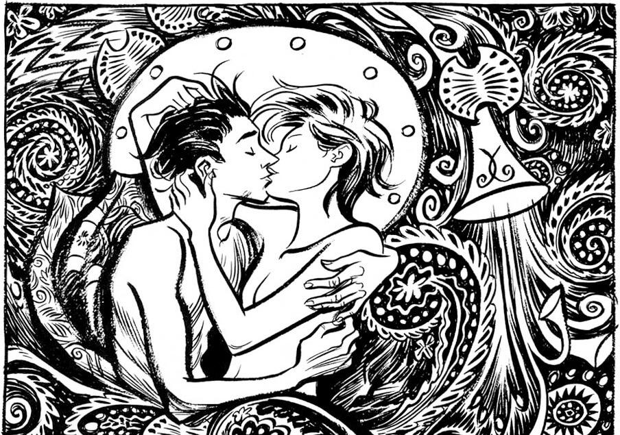 Craig Thompson usa quadros lindos, quase psicodélicos, para tratar de seus sentimentos