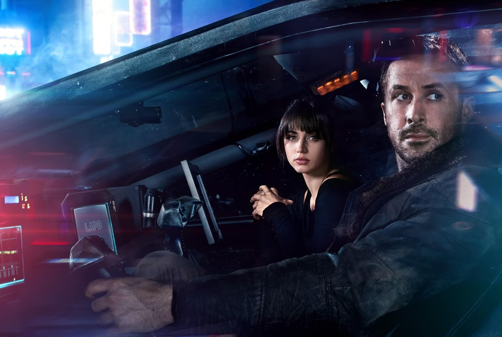 ANA DE ARMAS and RYAN GOSLING in Alcon Entertainment's sci fi thriller BLADE RUNNER 2049 in association with Columbia Pictures, domestic distribution by Warner Bros. Pictures and international distribution by Sony Pictures Releasing International.