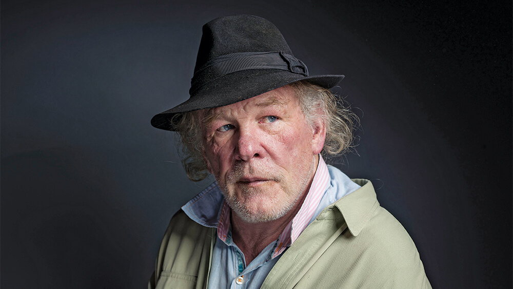 """Nick Nolte poses for a portrait to promote the film, """"A Walk in the Woods"""", at the Eddie Bauer Adventure House during the Sundance Film Festival on Saturday, Jan. 24, 2015, in Park City, Utah. (Photo by Victoria Will/Invision/AP)"""