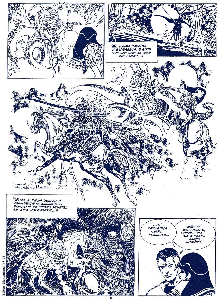 Página de Cinco por Infinito, de Esteban Maroto