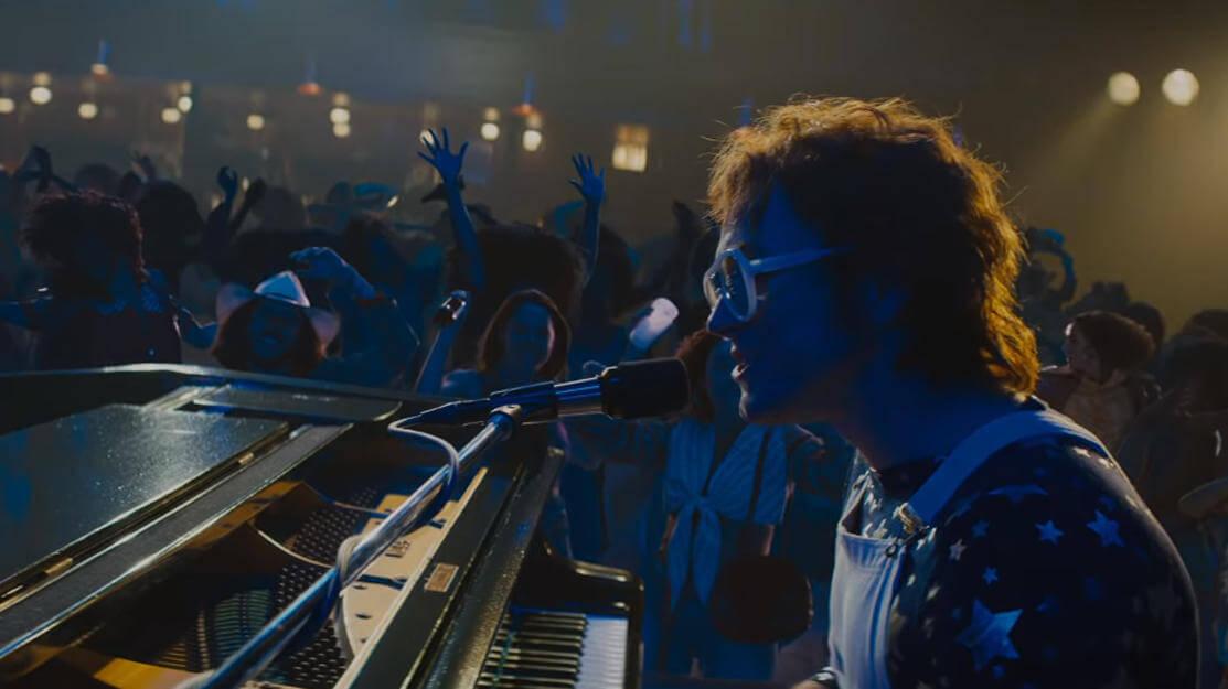 A still from the Rocketman movie trailer.