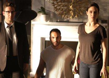 THE MAGICIANS -- Pictured: (l-r) Trevo Einhorn as Josh Hoberman, Arjun Gupta as Penny Adiyodi, Jade Tailor as Kady Orloff-Diaz -- (Photo by: Eric Milner/SYFY)