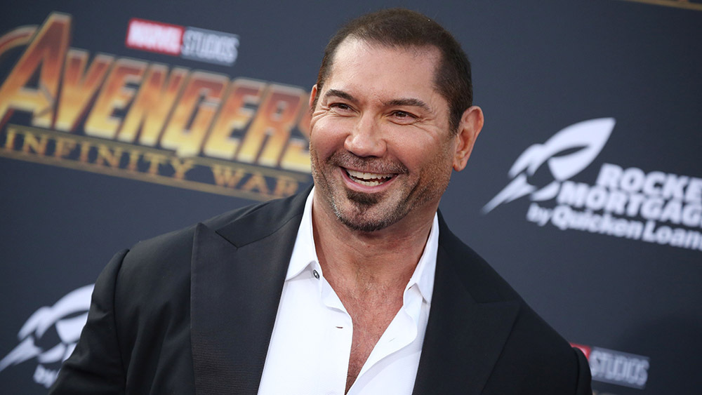 Mandatory Credit: Photo by Matt Baron/REX/Shutterstock (9640561rs) Dave Bautista 'Avengers: Infinity War' film premiere, Arrivals, Los Angeles, USA - 23 Apr 2018