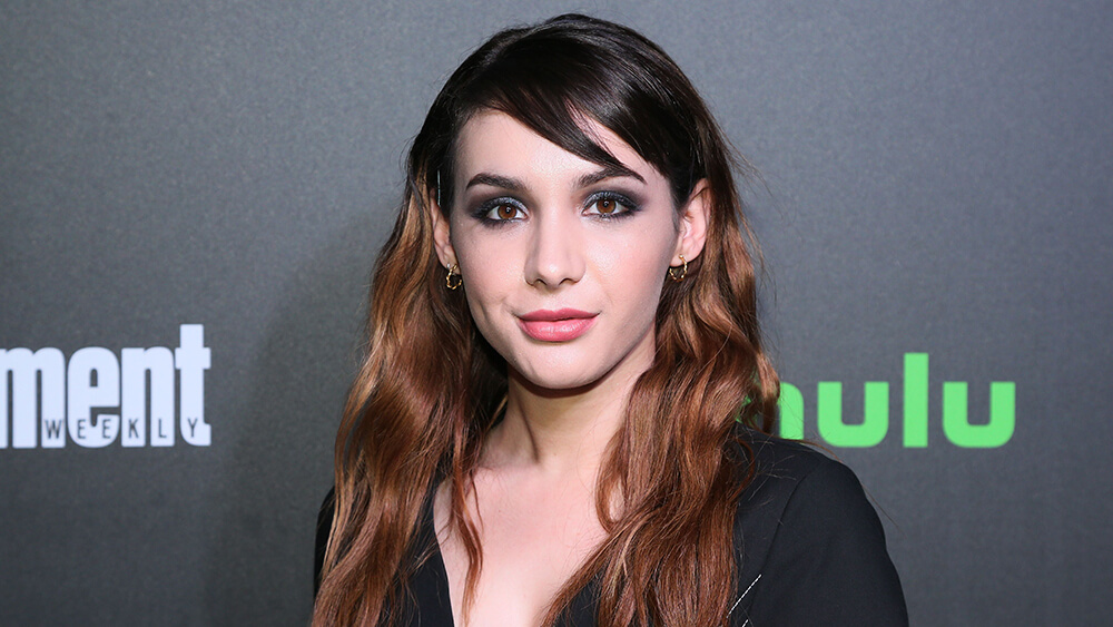 Mandatory Credit: Photo by Alberto Reyes/REX/Shutterstock (9121736h) Hannah Marks Hulu and Entertainment Weekly New York Comic Con party, Arrivals, New York, USA - 06 Oct 2017
