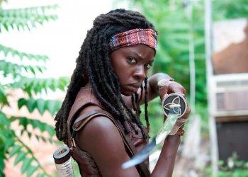 Michonne (Danai Gurira) - The Walking Dead - Season 3, Episode 1 - Photo Credit: Gene Page/AMC