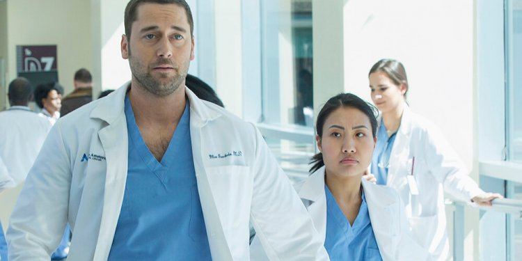 """NEW AMSTERDAM -- """"Pilot"""" Episode 101 -- Pictured: Ryan Eggold as Dr. Max Goodwin — (Photo by: Francisco Roman/NBC)"""