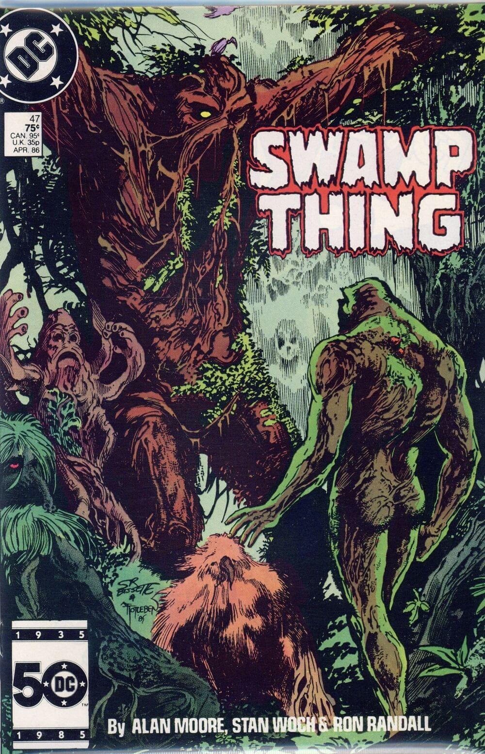 a saga do monstro do pântano, por alan moore - parlamento das árvores