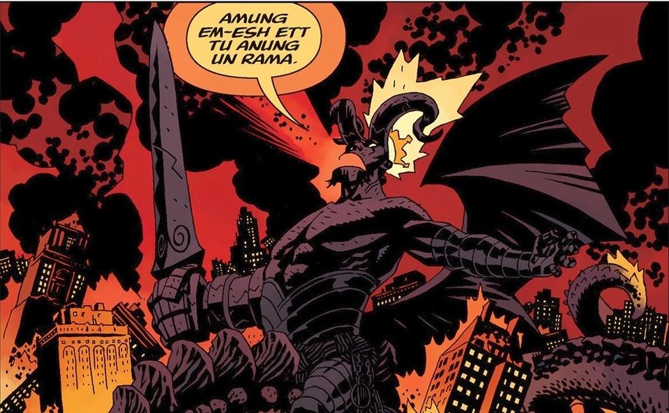 Hellboy com chifres