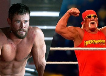 Chris Hemsworth de Thor filme e Hulk Hogan
