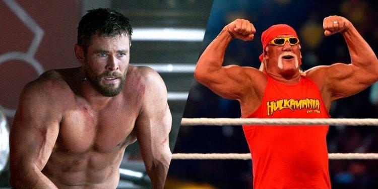 Chris Hemsworth de Thor filme e Hulk Hogan