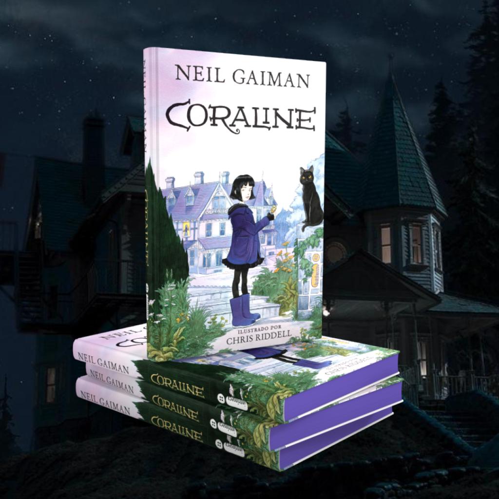 Coraline, de Neil Gaiman e Chris Riddell