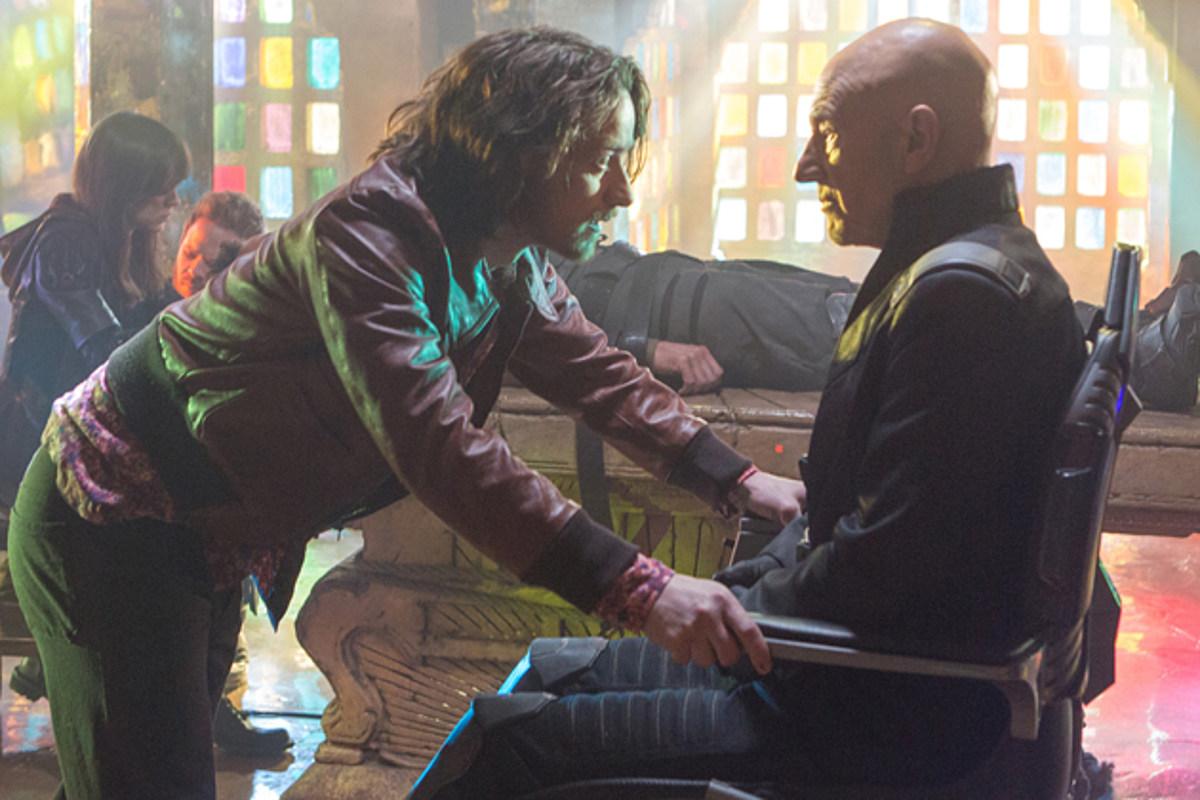 James McAvoy e Patrick Stewart em cena de X-Men