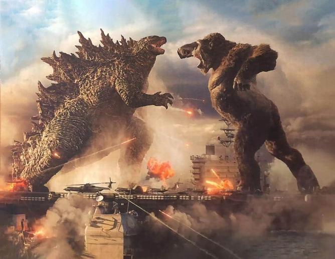 Godzilla vs. Kong - imagem de divulgação de nova linha de brinquedos