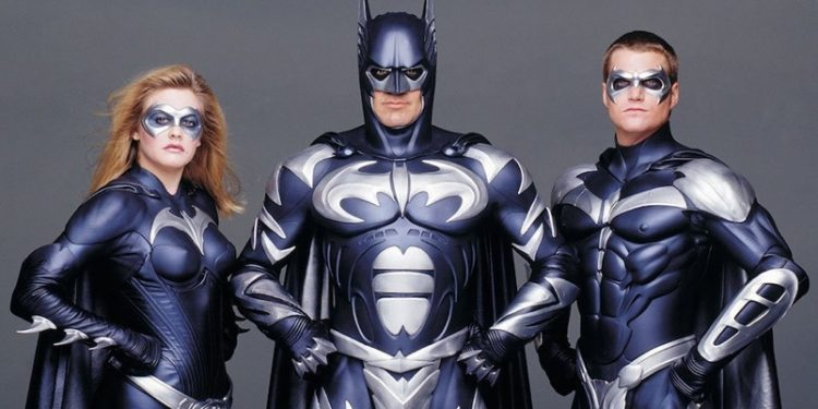 George Clooney como Batman em 1997