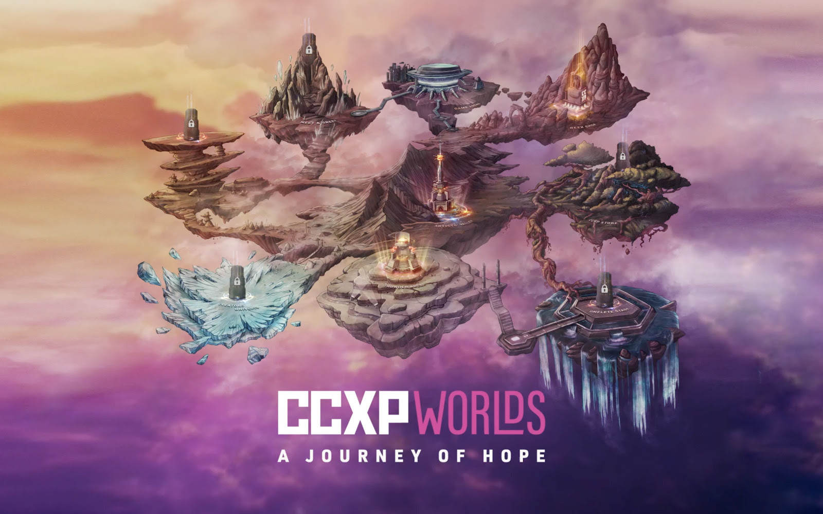 Mapa interativo do evento CCXP Worlds