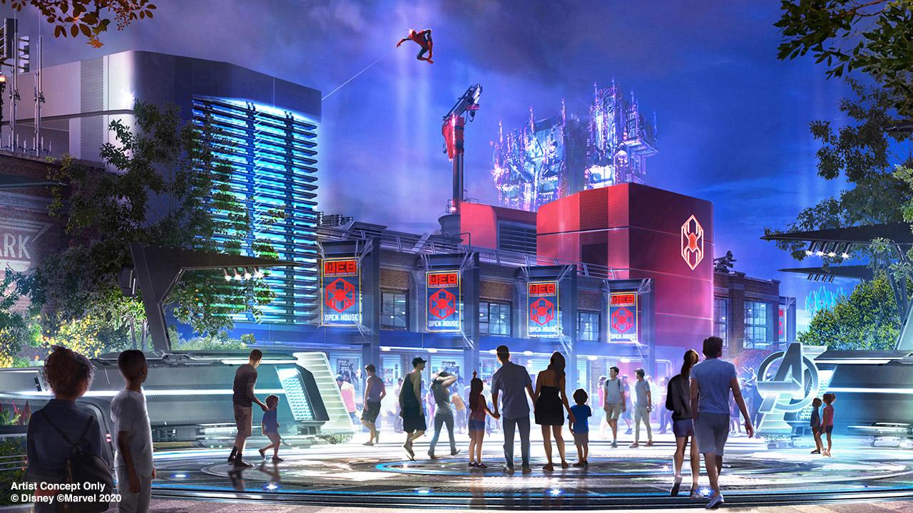 Avengers Campus nos parques da Disney