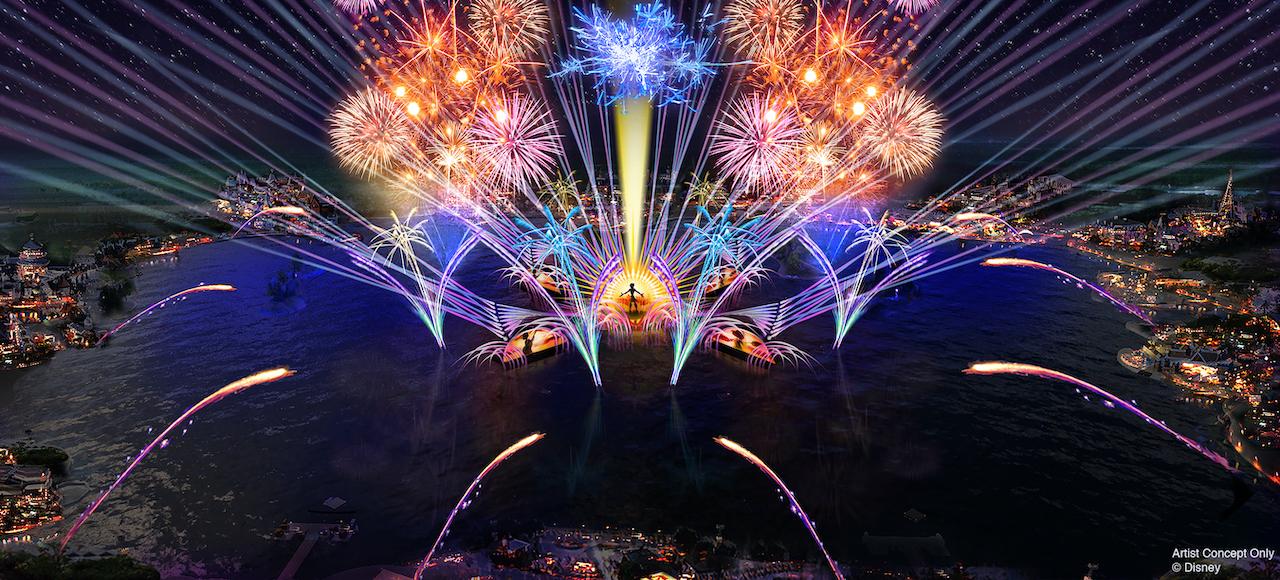 Espetáculo Harmonious no EPCOT parques da Disney