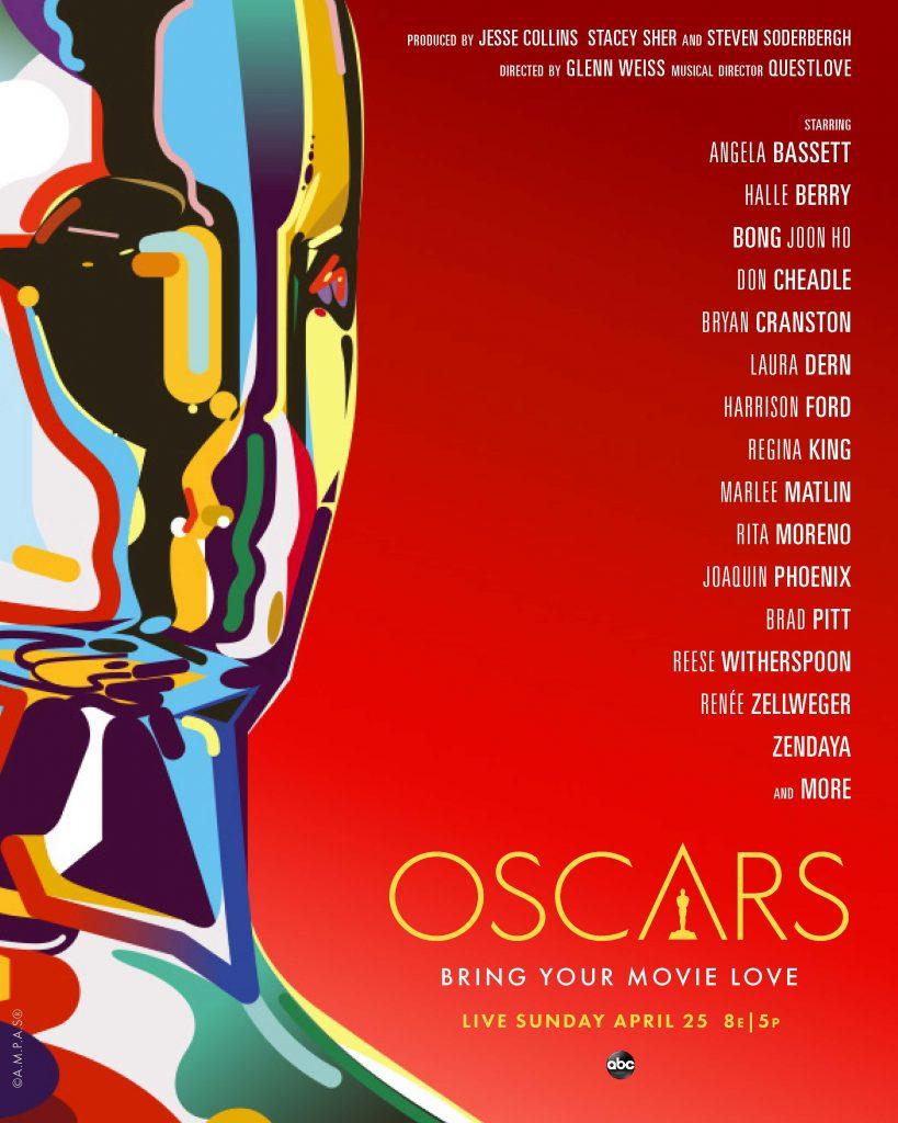 Cartaz dos apresentadores do Oscar 2021