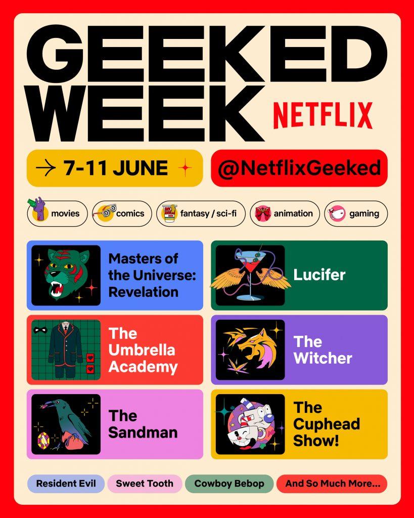 Evento da Netflix Geeked Week